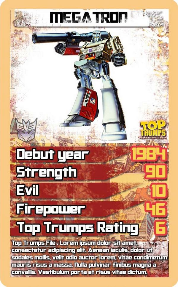 Transformers Top Trumps Megatron