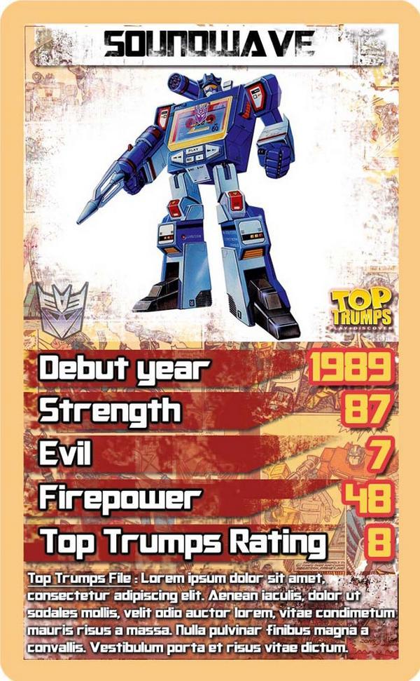 Transformers Top Trumps Soundwave