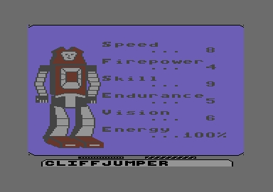 Commodore 64 Transformers Activision 12