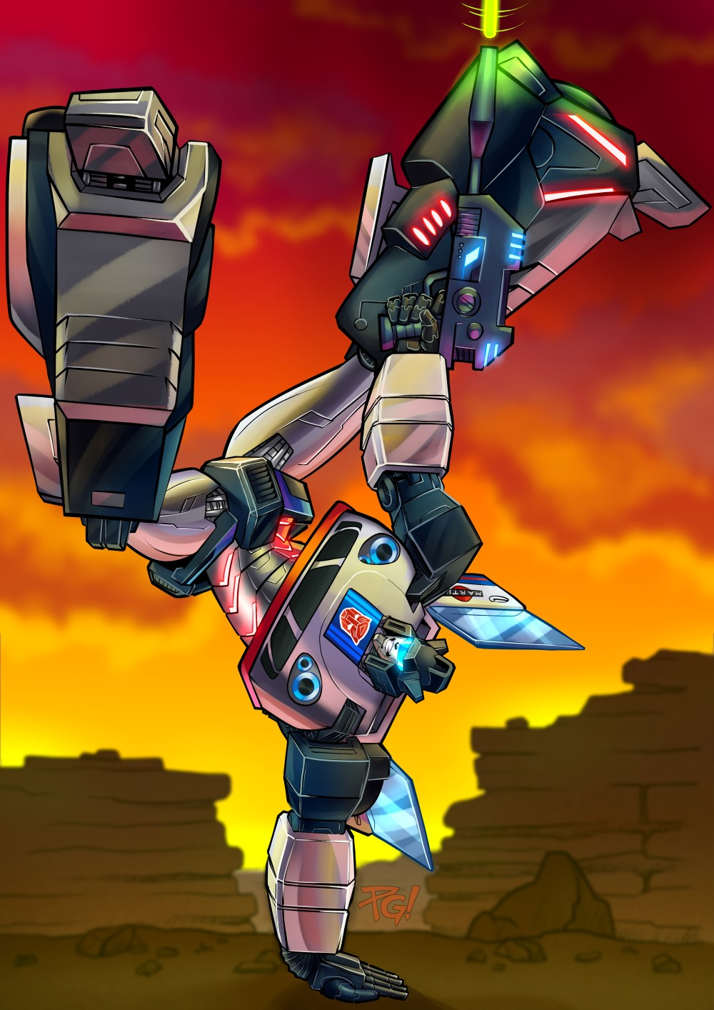 Cybertronian Times Issue 17 Jazz Pin-Up