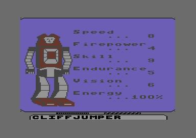 Commodore 64 Transformers Activision 12